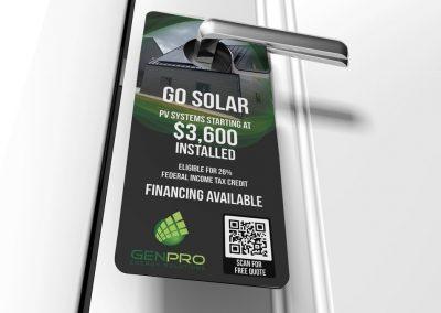 Residential Solar Door Hanger